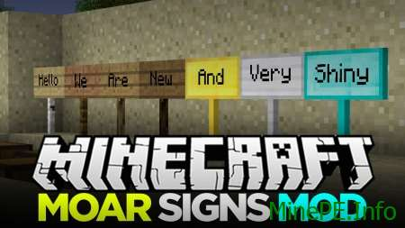 мод Moar Signs 1.9