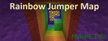 Карта Rainbow Jumper Map для Minecraft PE 0.15.4/0.15.3 /0.15.2 /0.15.1/0.15.0