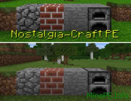 Текстур пак Nostalgia-Craft PE 0.16.0, 0.16.1