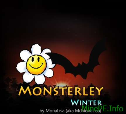 Текстур пак Monsterley Add-on: Winter [32x] 1.10.2