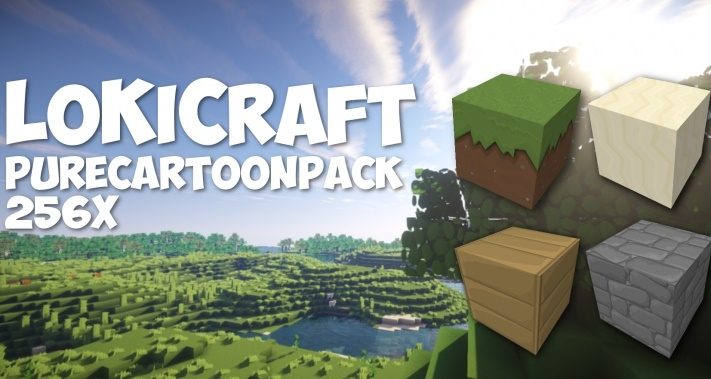 Текстур пак LoKiCraft PureCartoon [256x] 1.10.2