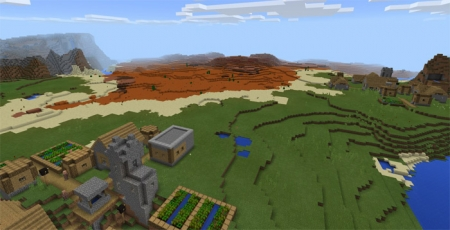 Сид Mesa Biome & Villages 1.0.0 (0.16.0, 0.17.0)