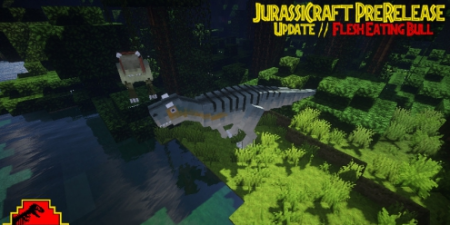 Мод  JurassiCraft на Майнкрафт 1.10 на мобов