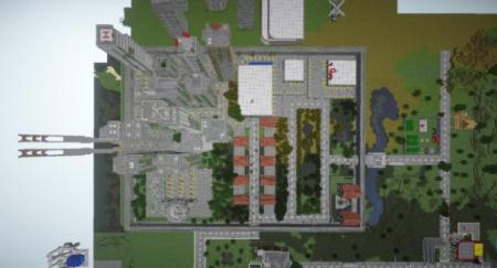 Карта апокалипсис Open World Zombie Apocalypse для Майнкрафт 1.7, 1.7.10