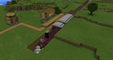 Карта Command Block Train (Redstone) 1.0.4, 1.0.3, 1.0.0