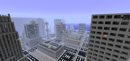 Карта апокалипсис Horizon City - Zombie Apocalypse для Майнкрафт 1.7, 1.7.10