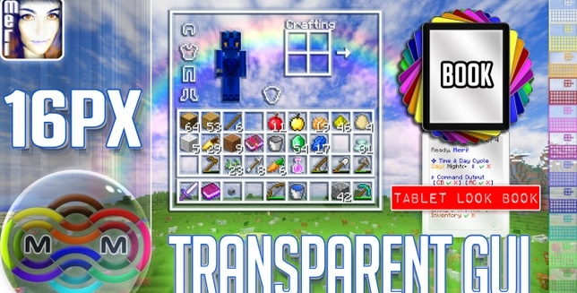 Текстур пак Transparent Gui [16x] 1.11.2
