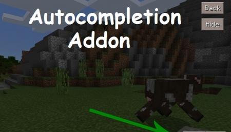 Аддон автодополнение 1.0.6, 1.0.4, 1.0.0