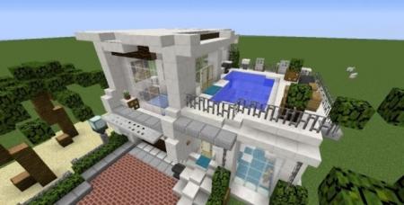 Карта Simple Cali Modern House для Майнкрафт 1.7, 1.7.10