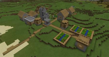 Сид Три деревни и один Храм на спавне 1.0.7, 1.0.6, 1.0.0
