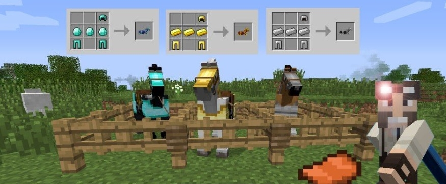 Мод Craftable Horse Armour and Saddle 1.11.2