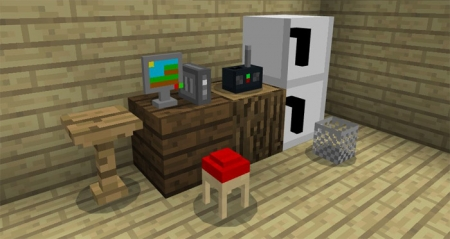 Мод Mine-Furniture 1.0.8, 1.0.7, 1.0.6, 1.0.0