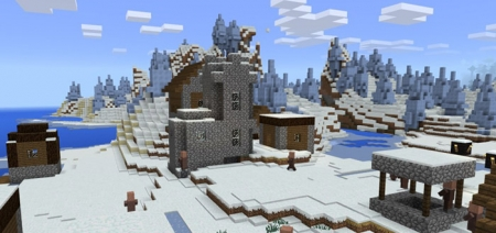 Сид на деревню с ледяными шипами возле спавна 1.0.8, 1.0.7, 1.0.6, 1.0.0