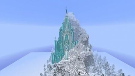 Паркур карта Elsa's Ice Castle – Frozen для Майнкрафт 1.7, 1.7.10