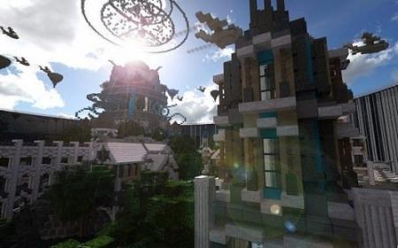 Карта город Atlantis – The Lost Empire для Майнкрафт 1.7, 1.7.10