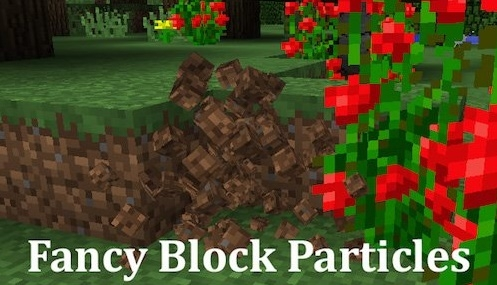 Мод Fancy Block Particles 1.11.2 на блоки