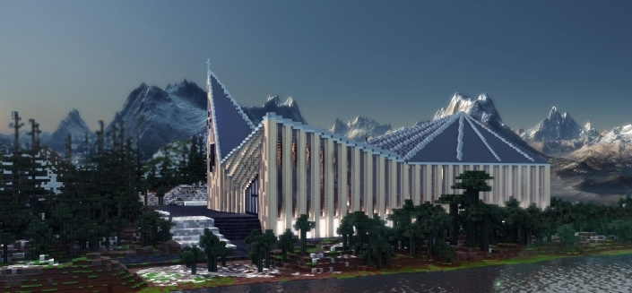 Карта Knarvik Church - Modern church project 1.11.2