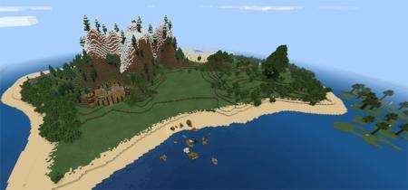 Карта Survival++ Adventure 1.1.0, 1.0.9, 1.0.8, 1.0.7