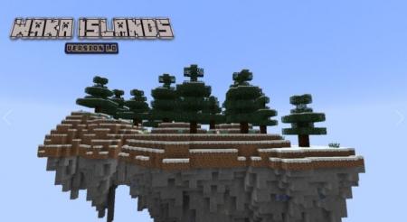 Паркур карта Waka Islands для Майнкрафт 1.7, 1.7.10