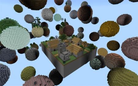 Карта Skyblock Planet 1.1.0, 1.0.9, 1.0.8, 1.0.7