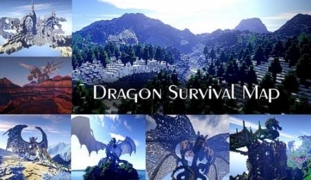 Карта Dragon Survival для Майнкрафт 1.7, 1.7.10 на прохождение