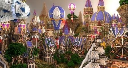 Карта город Ferrin - Fantasy City для Майнкрафт 1.7, 1.7.10