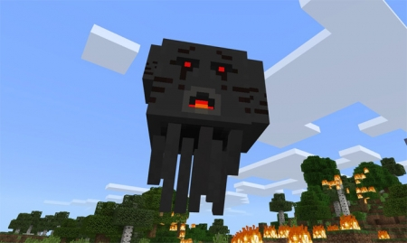 Мод 3 Headed Ghast Boss 1.1.5, 1.2.0