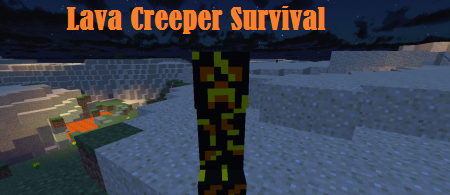 Карта Lava Creeper Survival 1.12