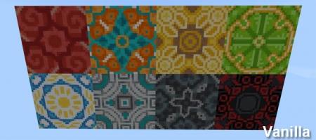 текстуры Better Glazed Terracotta Pack 1.2.0
