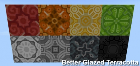 Текстуры Better Glazed Terracotta Pack 1.2.0