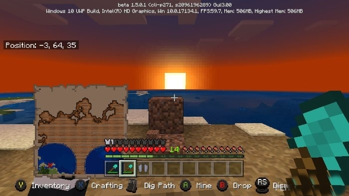 Текстур пак Minecraft Bedrock UI Enhancements 1.4, 1.4.1