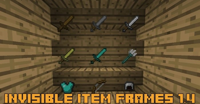 Текстур пак Invisible Item Frames 1.4