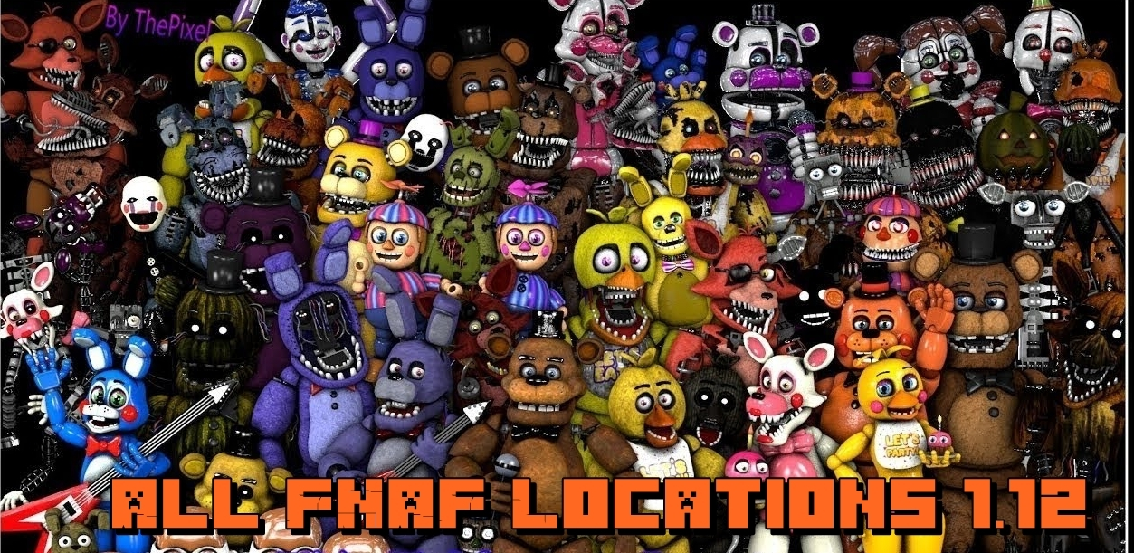 Карта All FNAF Locations 1.12