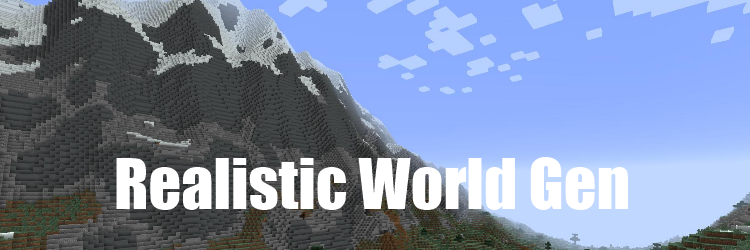Мод Realistic World Generation 1.12