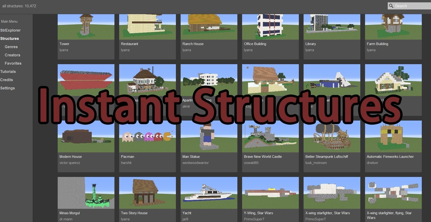 Мод Instant Structures 1.13