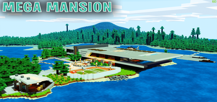 Карта SG Massive Modern Mansion Island House [Выживание] 1.9
