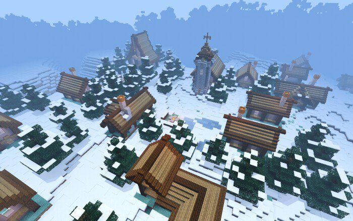 Карта Village in Snowy Biome [Выживание]